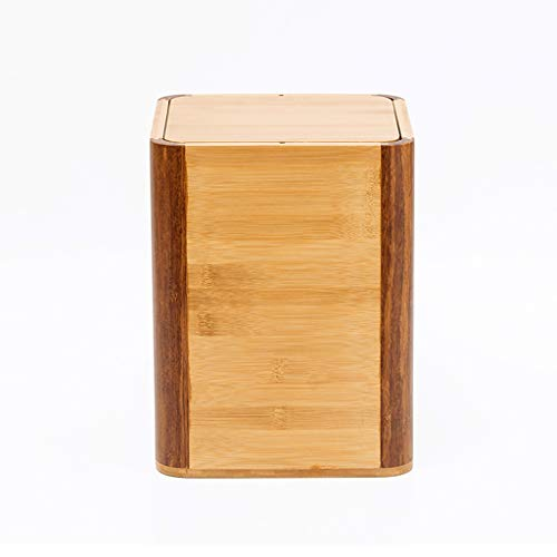 LXYFMS Papelera Creativa de Madera de bambú para el hogar, Papelera de Reciclaje, Cesta de Almacenamiento de artículos de Soltera, Cama de Hotel y Oficina Papelera de Papelera