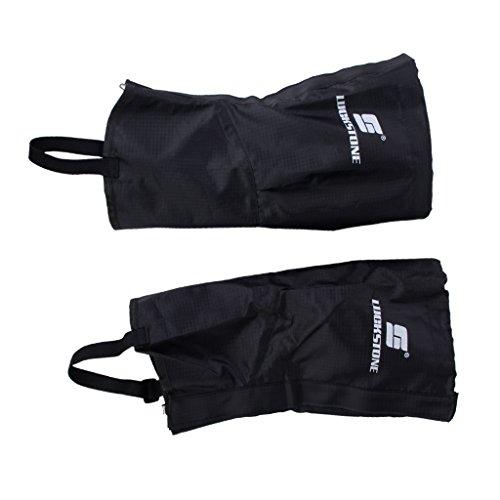 1 Paar Gamaschen für Damen oder Kinder und Jugendliche wasserdichte Wandern Klettern Schnee Legging Beindecken (Schwarz)