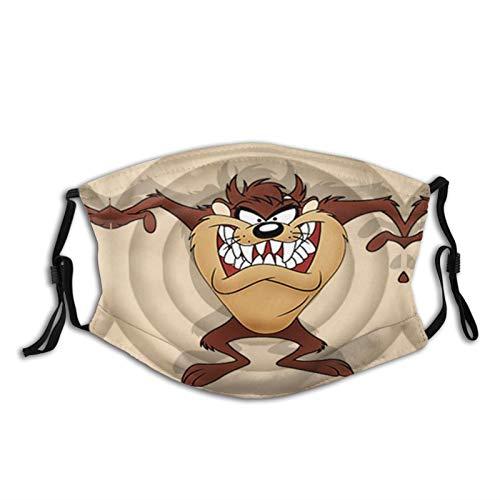 Looney-Tunes Taz Tasmanian Devil Cartoons Face Mask Reusable with 2 Filters Bandana Head Scarf Breathable Women Men Balaclava for Motorcycle Outdoor Sports Winter Warm
