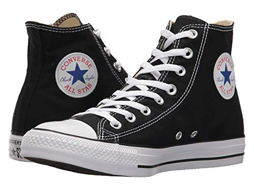 Converse Chuck Taylor All Star High Top Sneaker, Black (White Sole), Size 10.5
