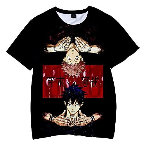 Cuello Redondo Animados T-Shirt,Camiseta de Manga Corta de Nueva Fang Yu Spirt T-Shirt-AT41104208_Medio