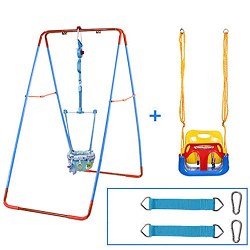 Lowest Prices! Baby Door Jumper 2-in-1 Baby Door Jumper and Swing Seat, Baby Bounce Swing Hang Jump ...