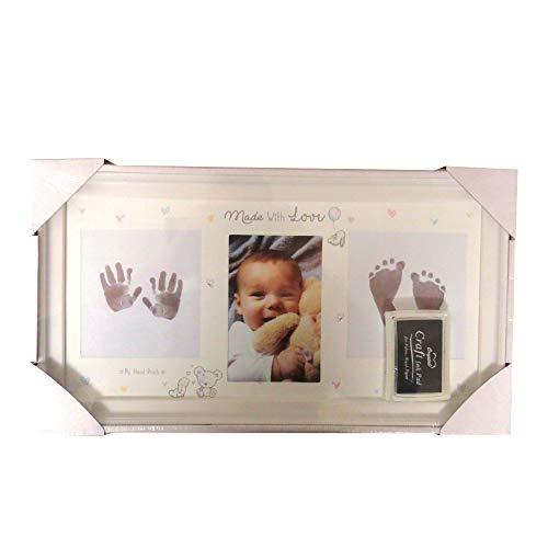 Baby Keepsake Voetafdruk Hand Print fotolijst Inkt Pad Beeld Frame Baby Douche Baby Herinneringen Baby Gift Baby Voet…