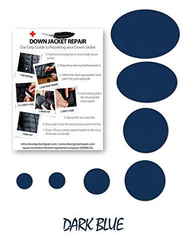 Reparatur-Flicken-Set für Daunenjacken, selbstklebend, 17 Farben dunkelblau