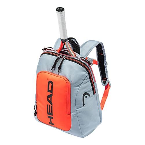 Head, Borsa Racchetta Unisex-Adulto, Grigio/Arancione, Kids Backpack