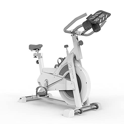 Bicicleta De Ciclismo Para Interiores Bicicleta De Entrenamiento Cardiovascular Estacionaria Con Soporte Para Tableta Y Monitor Bicicleta De Ejercicio Con Transmisión Por Correa Silenciosa,Gris