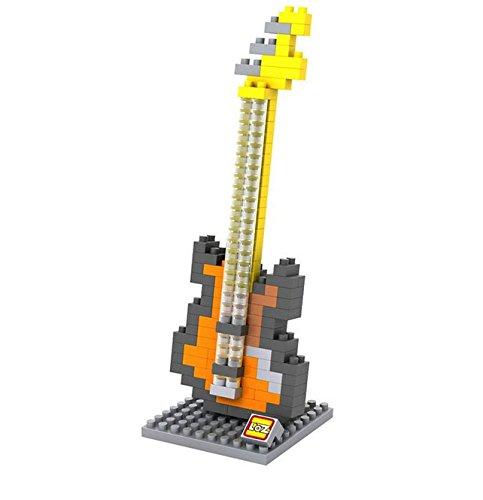 mugesh Nanoblock 3D-Puzzle Electric Bass - Schönes Geschenk für Musiker