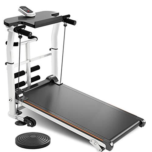CWYPC Laufband Für Zuhause, Treadmill Mechanisch Laufband Klappbar Fitnessgerät, LCD Display, Höhenverstellung, Halterungen, 150 Kg Belastbarkeit, Home Büro