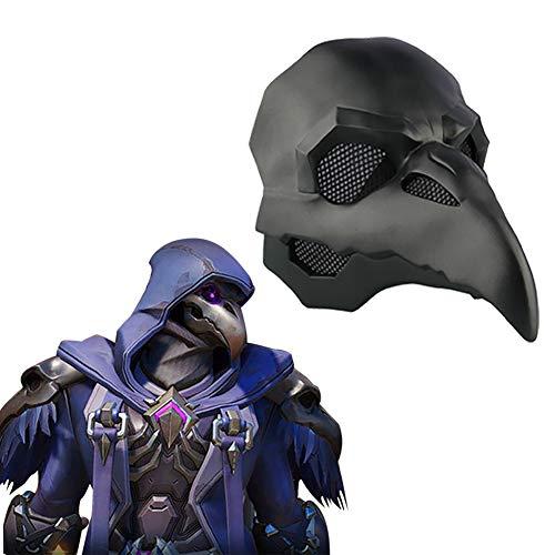 OW Reaper Skin Nevermore Mscara de Doctor Ravens Casco  1:1 Props, Cosplay Casco Accesorios Anime
