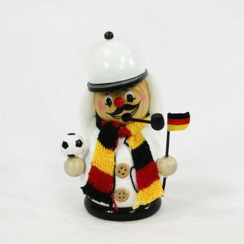 Incensiere a forma di calciatore, con dimensioni di circa-, Schwarz / Rot / Gold