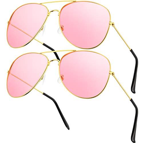 Frienda 2 Paia Occhiali da Sole Stile Retrò Hippy Occhiali da Sole Abito Costume Occhiali da Sole Uomo Donna Occhiali