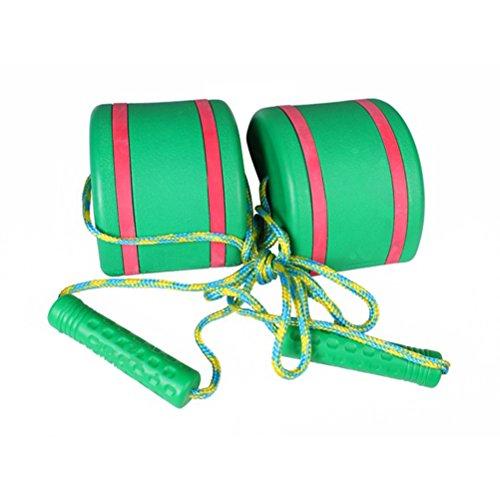 VORCOOL 2 Teile/Satz Springen Stelzen Walk Stelze Jump Outdoor Fun Sport Spielzeug für Kinder Kinder (grün)