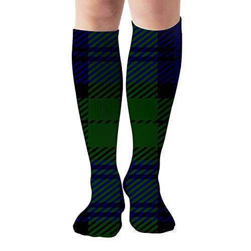 Black Watch Tartan Plaid Compression Socks For Women And Men - Best Medical,For Running, Athletic, Varicose Veins, Travel 19.68 Inch