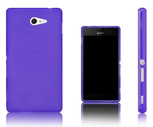 Xcessor Vapour Funda Carcasa de TPU Gel Flexible para Sony Xperia M2. Púrpura/Transparente