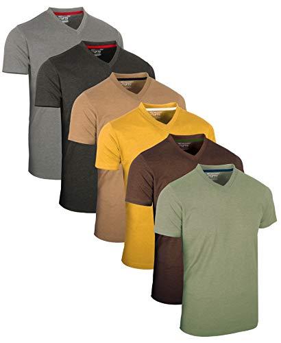 FULL TIME SPORTS® Tech 6 Pack FTS-639 mit V-Ausschnitt T-Shirts (XXX-Large, Vint)