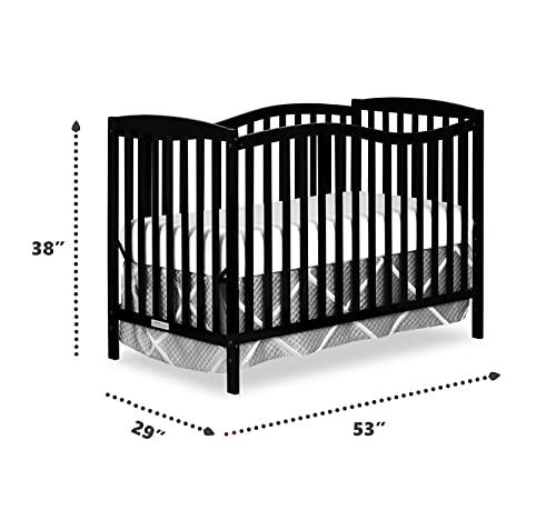 Dream On Me Chelsea 5-in-1 Convertible Crib Black