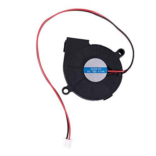 SODIAL(R)Ventilador soplador de enfriamiento DC sin cepillo negro 5015S 12V 0.14A 50mm x 15mm