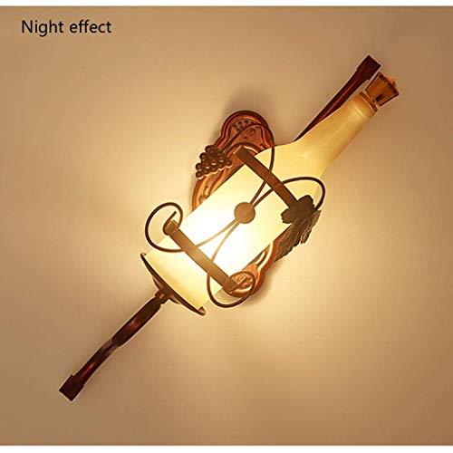 Wandlantaarn, wandlamp, kristal, spiegel, LED-verlichting, wandverlichting, voor creatieve bed, wandverlichting, industriële wandverlichting, voor themaverlichting 1 exemplaar