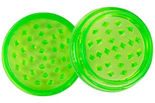 Weedness Triturador de maleza Plástico de 2 Piezas 50 mm - Grinder Herb Crunsher