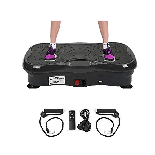 Wefun Fitness Plate Vibrationstrainer, für Den Büro-Wohnzimmer, Multi-Funktions mit Bluetooth und USB,Vib (Schwarz)