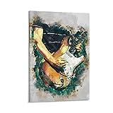 gaozhen Frusciante - Póster de guitarra eléctrica y arte para pared, diseño moderno, 60 x 90 cm