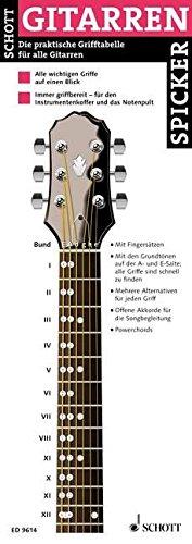 Gitarren Spicker: Die praktische Grifftabelle für alle Gitarren. Gitarre.