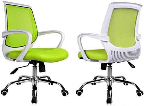 LTHDD Silla ergonómica de Oficina, Ascensor for el hogar Rotación de ventilación Simple Dormitorio Silla de Estudiante, Negro, Verde, Color Nombre: Verde (Color : Green)