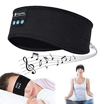 Sleep Headphones, Sport Headband, Wireless V5.0 Bluetooth Headphones, Eye mask Headphones, Built-in ultra-thin HD stereo speakers, Suitable for Side Sleep, Sports, Yoga, Fitness, Relaxation from Jusimi