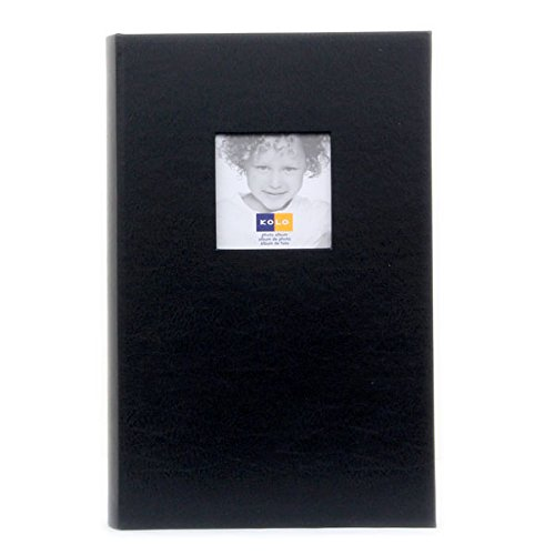 Kolo Hudson, 12–1/10,2x 20,3cm Leder Buchgebundenes Foto-Album, mit weichen, weißen Seiten, für 30010,2x 15,2cm Fotos, 3pro Seite, Farbe: Schwarz