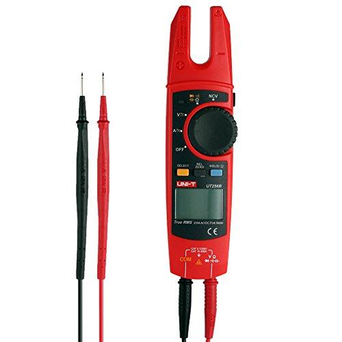 Roeam Multímetro Pinzas Profesional Tenedor Retroiluminada,Pinza Amperimetrica Clamp Bolsillo Digital,AC/DC Polimetro Tester...