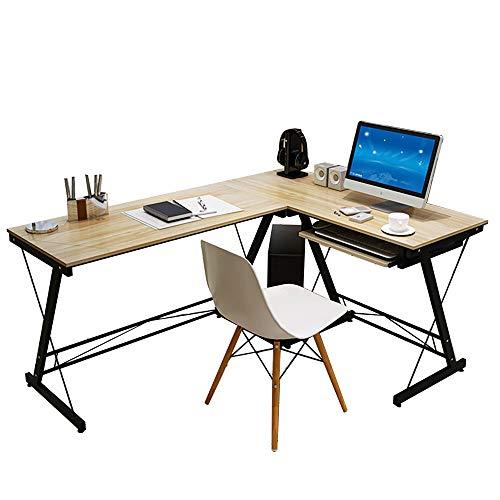 QINJIE Escritorio de computadora Simple, Escritorio en casa, Mesa de Esquina Simple, Escritorio, Mesa de Juego,Beige