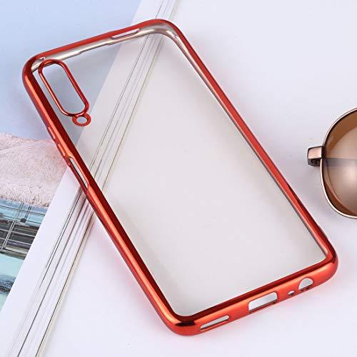 Sevenplusone - Carcasa protectora para Huawei Honor 9X (plateada), diseño ultrafino, color rojo