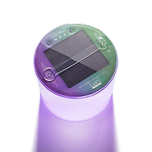 MPOWERD Luci Color: Solar Inflatable Light with 8 Colors + Color Cycle, Last 6 Hours, Sparkle Finish, No Batteries Needed, Waterproof, Add Color to Your Life