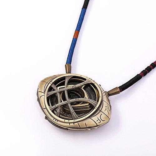 Bayram® Marvel Collar del Eye of Agamotto de Metal Doctor Strange 1:1  Fabricación Collar Brillante en la Oscuridad - Avengers Cosplay Prop Requisite Infitinity Piedra