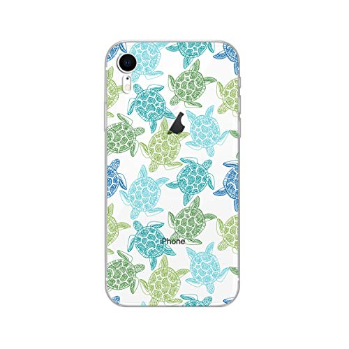 iPhone XR Case,Blingy's New Clear Cute Animal Style Soft TPU Protective Case Compatible for iPhone XR (Green Turtles)