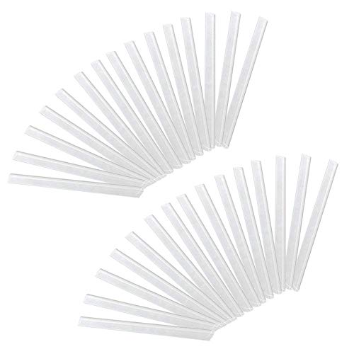 Froadp 50 Stück PVC Befestigungsclips Sichtschutzstreifen Sichtschutz Klebestreifen zur Befestigung Transparent