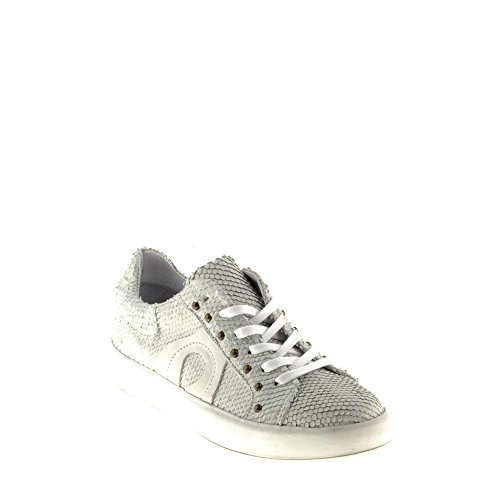 Felmini - Damen Schuhe - Verlieben Trump B019 - Sneakers - Echtes Leder - Weiß - 38 EU Size