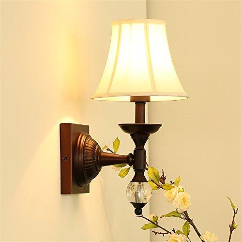 JJZHG Wandlamp, waterdicht, wandverlichting, retro land-wandlamp, creatieve woonkamer, slaapkamer, bed, één hoofd, persoonlijkheid, wandlamp omvat: wandlamp