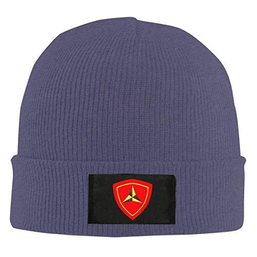 Lawenp Tercera División de Infantería de Marina Gorro de Invierno Cálido Neutro Gorro de Punto Sombrero de Urinario Sombrero de Calavera