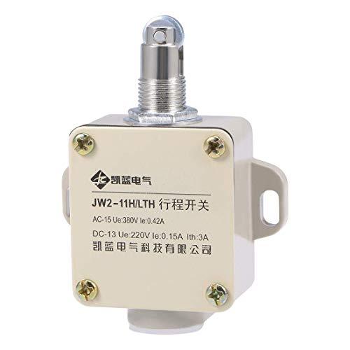 YeVhear JW2-11H / LTH - Interruptor de final de carreras momentáneo de pistón de rodillo 1NC + 1NO para interruptor de puerta de impresora 3D de molinillo CNC
