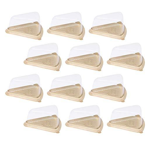 YARNOW 100 Piezas Triángulo Pastel Rebanada Contenedor Plástico Transparente Pastel de Queso Caja de Bocadillos Pastel Bandeja