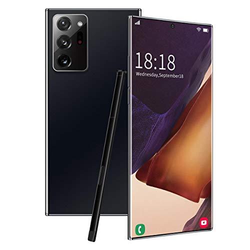 6,9 pollici di Smart Phone a schermo intero, riconoscimento facciale con una doppia scheda stilo di protezione, copertura posteriore in vetro curvato, 12G + 512G, nero