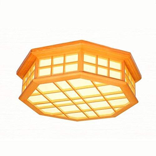 XYZMDJ Luz de Techo - de Madera Lámpara de Techo Lámpara de Techo LED lámpara de la Sala de Estar Creativa Dormitorio Estudio Comedor lámpara Octogonal lámpara de Wood Strip lámpara