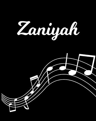 Zaniyah: Sheet Music Note Manuscript Notebook Paper – Personalized Custom First Name Initial Z – Musician Composer Instrument Composition Book – 12 … Guide – Create Compose & Write Creative Songs