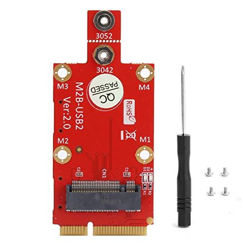 Adaptador M.2 ~ Mini PCI-E, Ranura para Tarjeta Dual Nano SIM Convertidor M.2  Mini PCI-E, con Kit de Destornillador M2, Convertidor de Adaptador M.2 a Mini PCI-E