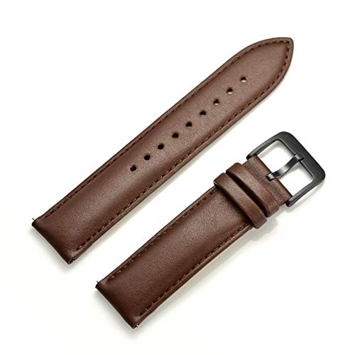 REDCVBN Cinturini per Orologi Cinturini per Orologi da 20 mm Cinturino in Vera Pelle per Samsung Gear S2 Classic Smart Watch Accessori per Cinturini di Ricambio per Amazfit BIP (Colore Cinturino: ma