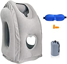 Inflatable Travel Pillow, SmartDer Airplane Pillow with Patented Valve Design, Travel Accessories with Neck and Head Support, Travel Pillows for Long Haul Flights, Cars, Buses, Trains, Office Napping