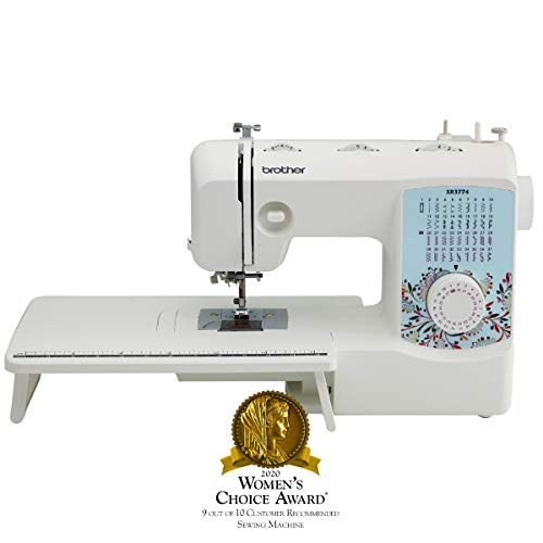 Brother XR3774 Full-Featured Sewing Quilting Machine 37 Stitches, 8 Sewing Feet, Wide Table Instructional DVD