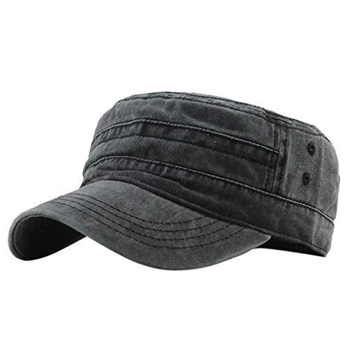 para Mujer para Hombre Gorra de béisbol Sombrero para el Sol de algodón Gorra Militar Transpirable para Exteriores Sombrero Ligero Superior Plano Deportes al Aire Libre riou