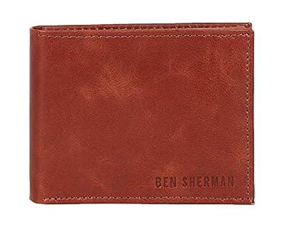 Ben Sherman, Cognac Slim Passcase Bi-Fold Wallet